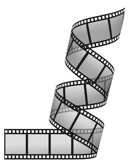 Filmstrip op de witte achtergronden