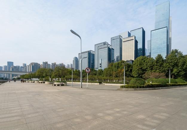 Financial center plaza en kantoorgebouw, chongqing, china