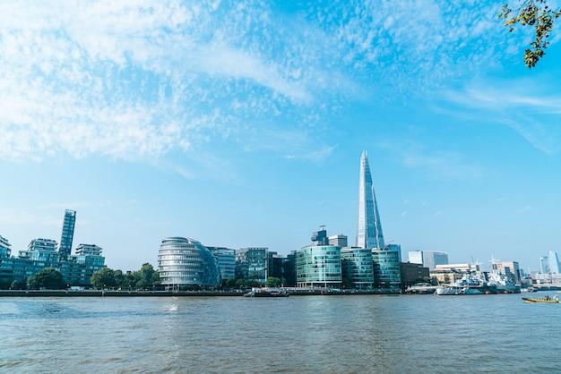 Financial district of london uitzicht vanaf de zee