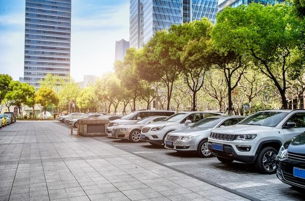 Financial district straat parkeerplaats