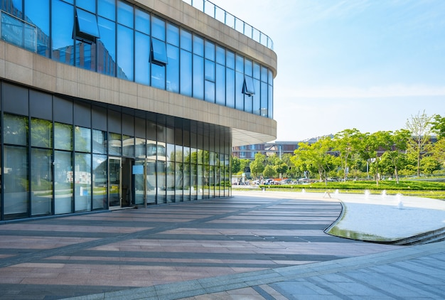 Financieel centrum plaza en architectuur, nanjing, china