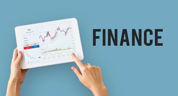Financieel forex zakelijk grafiekrapport