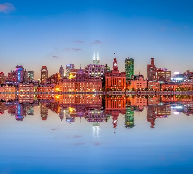 Financieel shanghai reizen chinese licht oud
