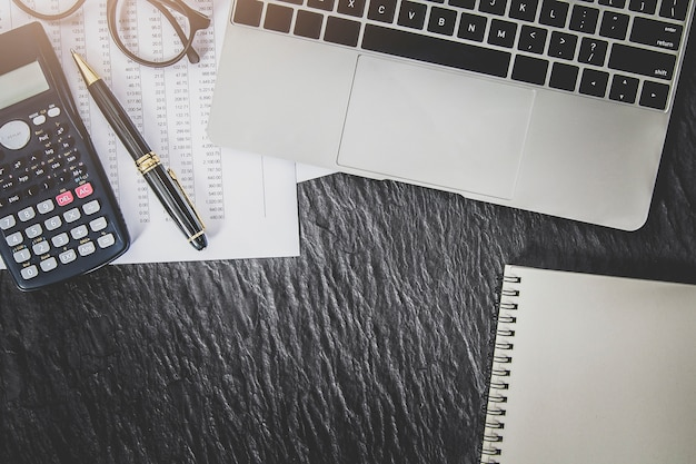 Financiële boekhouding analyse concept