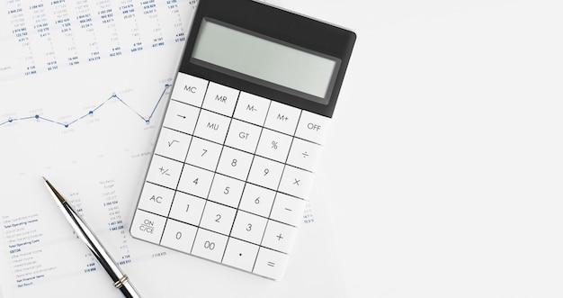 Financiële boekhouding beurs grafieken analyse