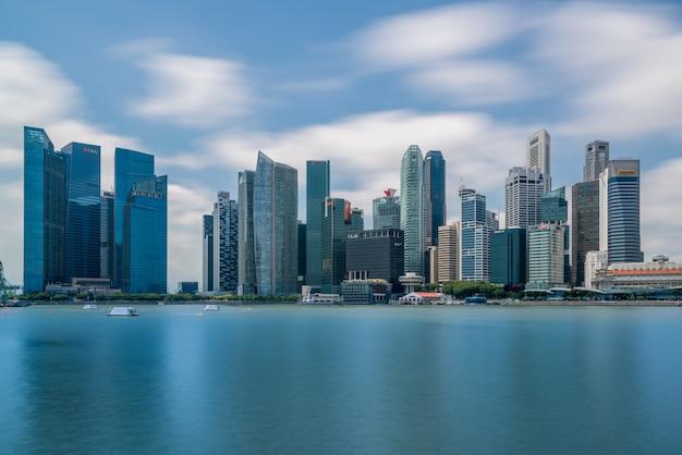 Financiële district van singapore in het centrale gebied