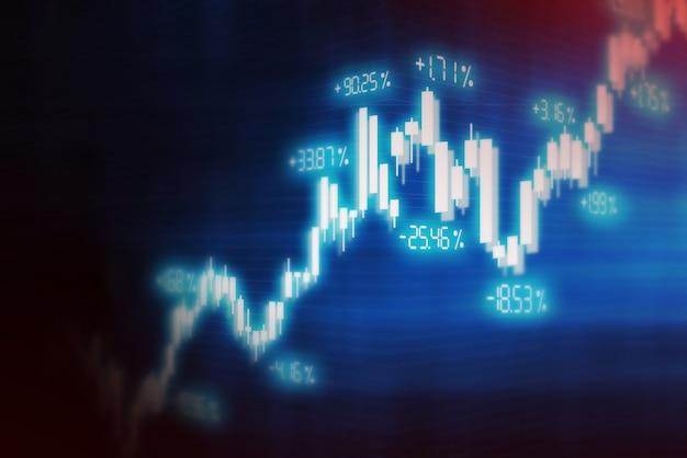 Financiële effectenbeursgrafiekachtergrond, het technologisch scherm