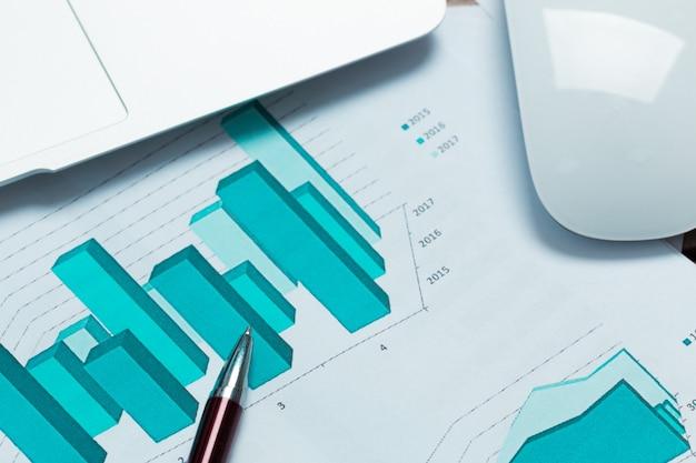 Financiële grafiek en grafiek