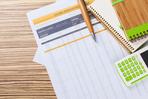 Financiële grafieken en diagramanalyses