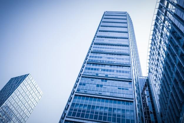 Financiële hoge bank blauw downtown