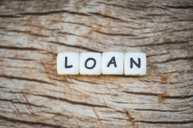 Financiële lening of lening voor auto- en woningkredietovereenkomst. lening goedkeuring concept
