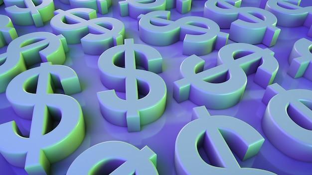 Financiële thema achtergrond. dollar symbolen