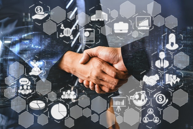 Financiën en geldtransactie technologie concept