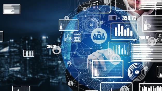 Financiën en geldtransactietechnologie conceptueel