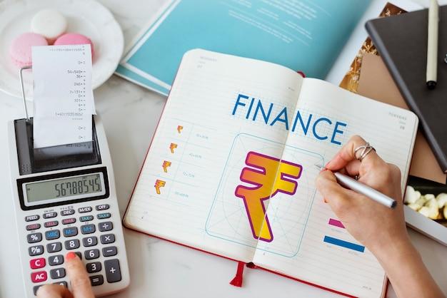Financiën geld valuta cash concept