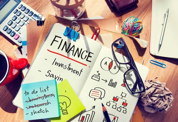 Financiën investeringsbankkosten concept
