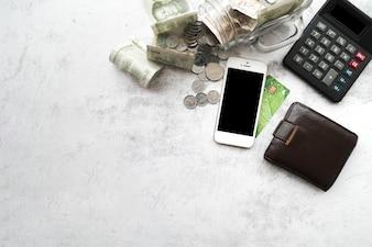 Financiënelementen van bovenaanzicht