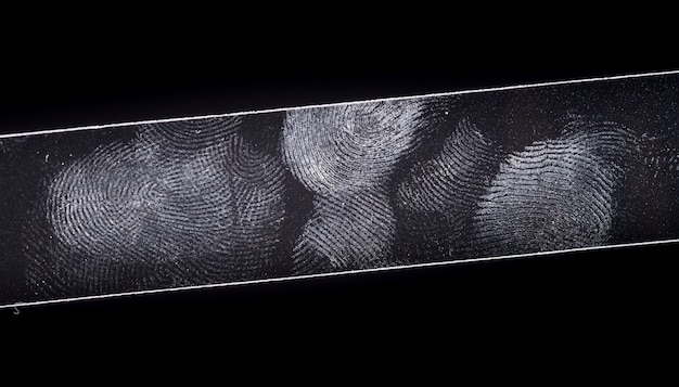 Fingerptint geïsoleerd op zwart