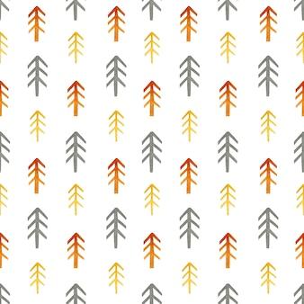 Fir tree aquarel naadloos patroon in scandinavische stijl