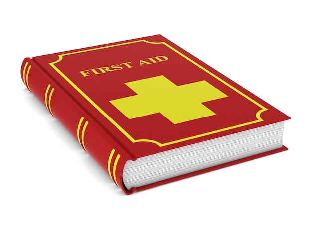 Firstaid-boek over witte ruimte