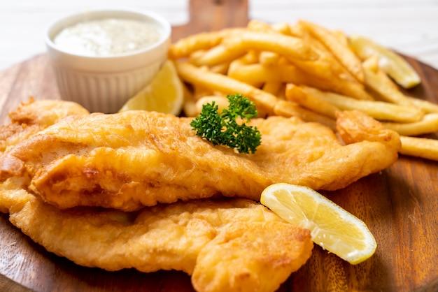 Fish and chips met frietjes