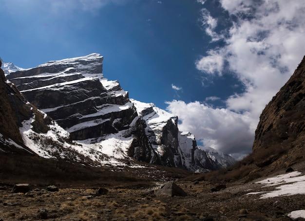 Fishtailmassief van de berg van himalayagebergte