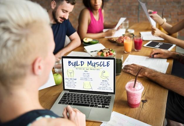 Fitness body builder-uitdaging
