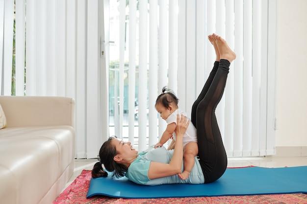 Fitness en gelukkig moederschap