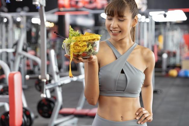 Fitness en gezond voedsel, afvallen concept