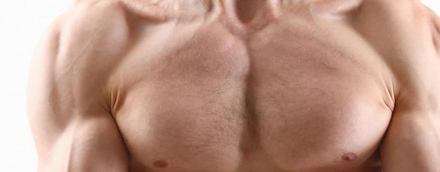 Fitness man achtergrond schouder biceps borstspieren