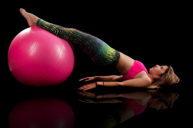 Fitness meisje oefening