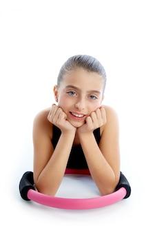 Fitness pilates yoga ring jongen meisje oefening workout