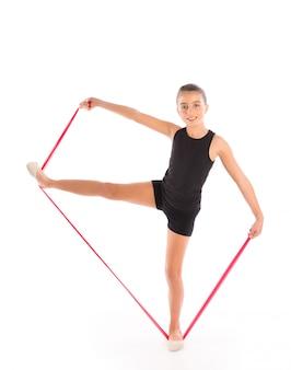Fitness rubber weerstand band jongen meisje oefening