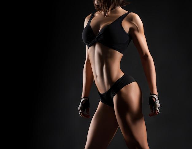 Fitness vrouw studio-opnamen