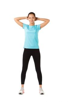 Fitness vrouw volledige lengte