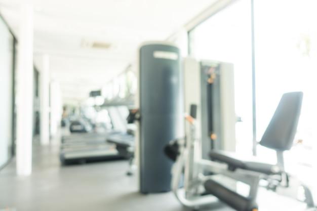 Fitnessapparaten wazig