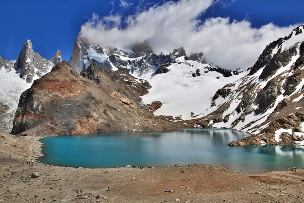 Fitz roy-berg, patagonië, argentinië