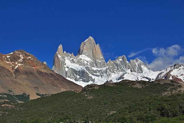 Fitz roy mount dichtbij el chalten in patagonië argentinië