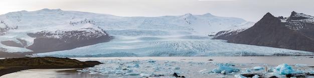 Fjallsarlon glaciale lagune ijsland panorama
