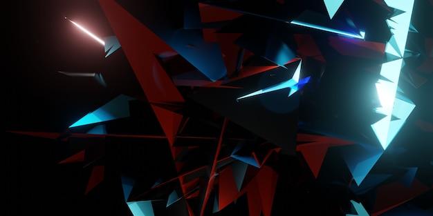 Flak achtergrond gebroken glas moderne technologie abstracte futuristische 3d illustratie