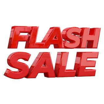 Flash sale banner sjabloonontwerp, speciale promotie