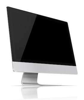 Flat screen computermonitor.