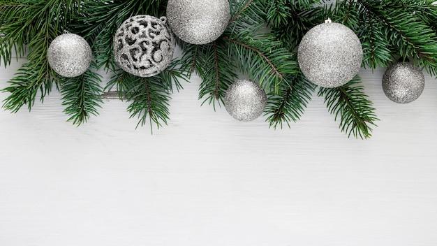 Flay lag van een prachtig kerstavondconcept