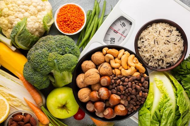 Flay lag van noten en groenten
