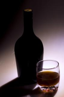Fles, alcohol
