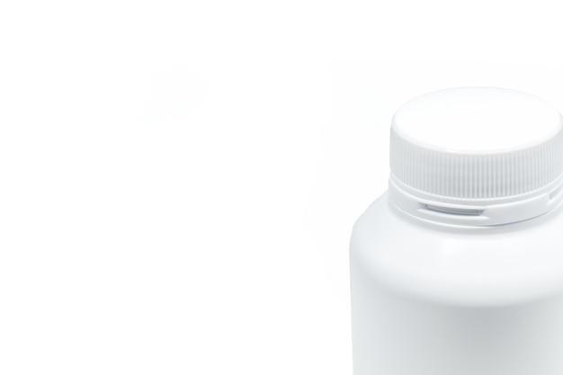 Fles geneeskunde witte achtergrond