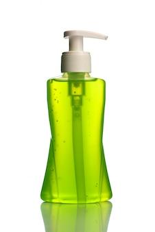 Fles met vloeibare zeep of crème of dispensers voor gezichtswas of vloeibare stop