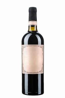 Fles wijn geïsoleerd