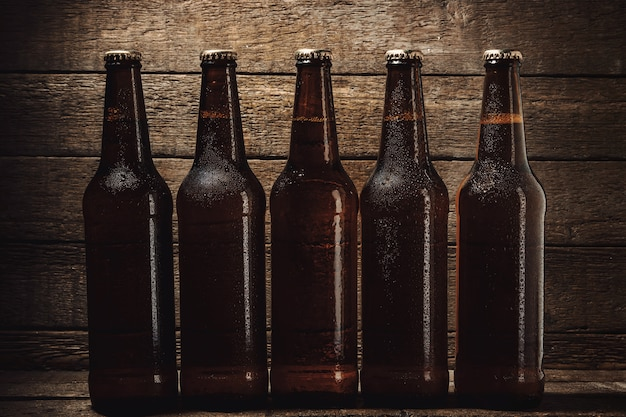Flessen koud biertje