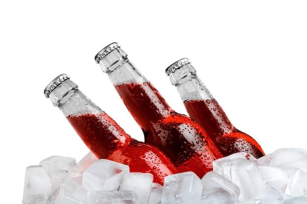 Flessen koud en vers bier